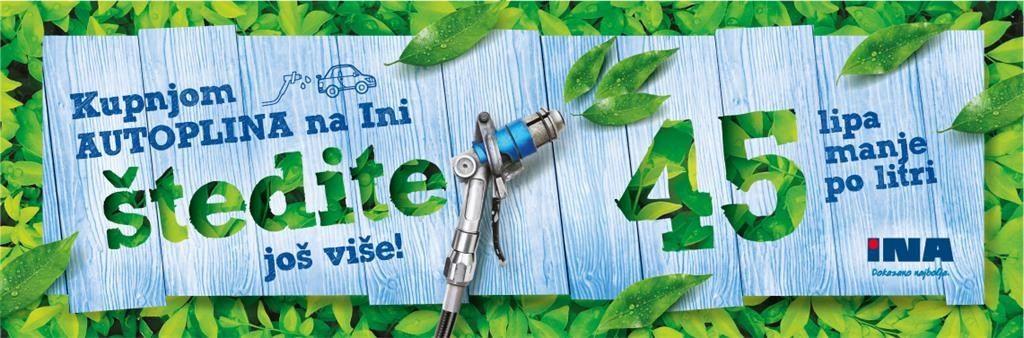 45 lipa manje za litru auto plina