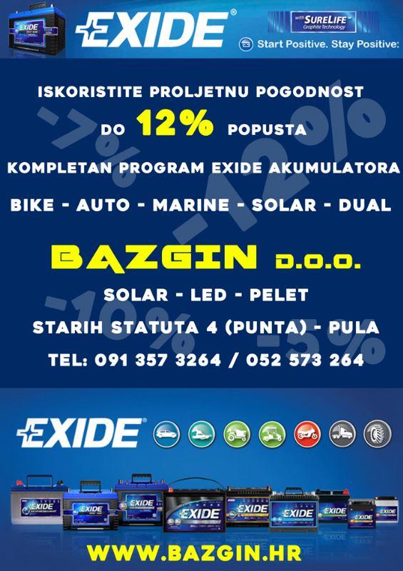 Proljetna pogodnost na EXIDE akumulatore