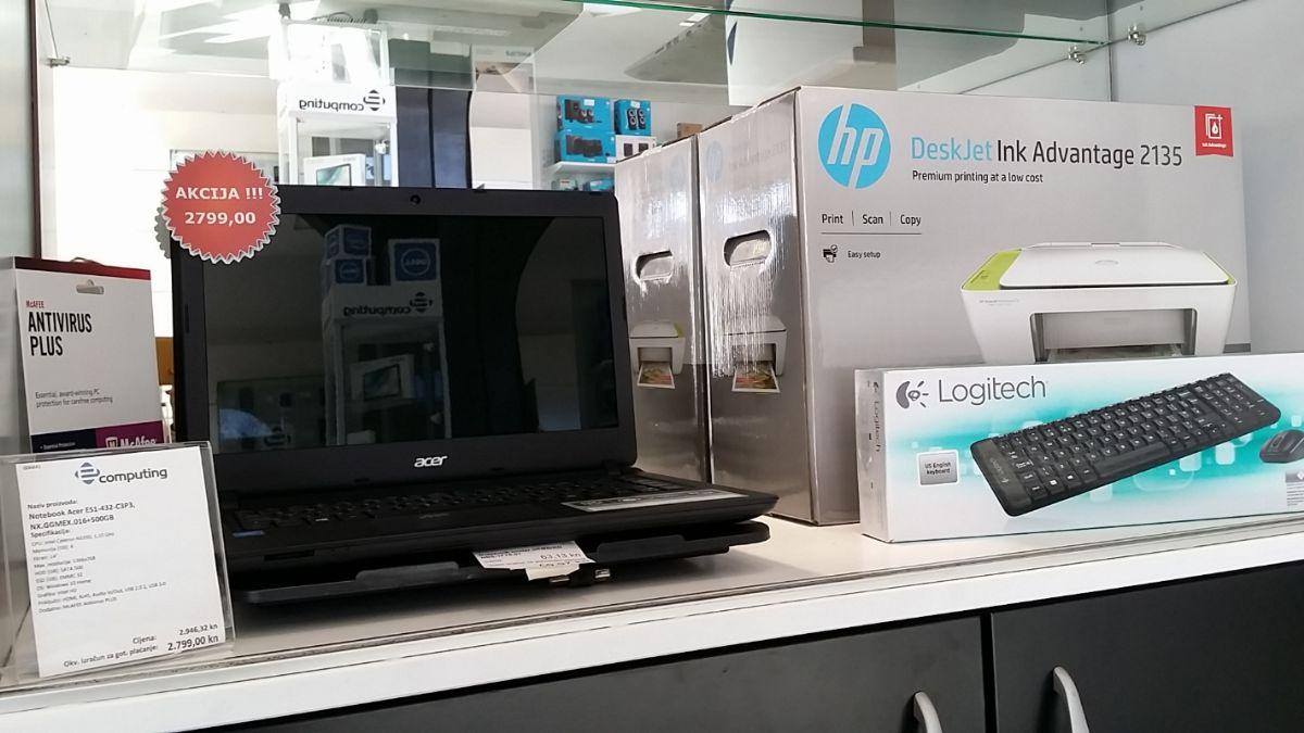 Akcija! Laptop + printer + tipkovnica