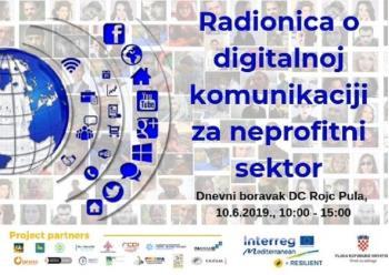 Radionica o digitalnoj komunikaciji za neprofitni sektor u ponedjeljak u Puli