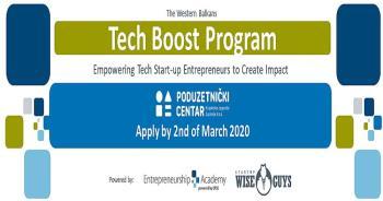 Prijavite svoju poslovnu ideju na Tech Boost