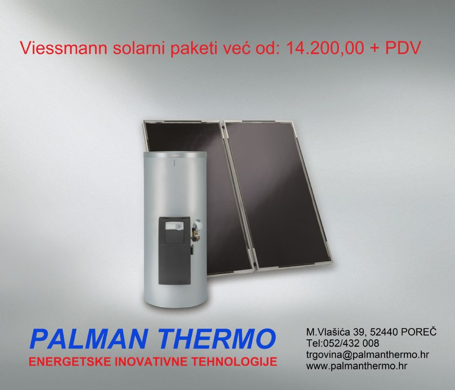 Popust na Viessmann solarne pakete