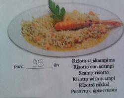 Rižoto sa škampima