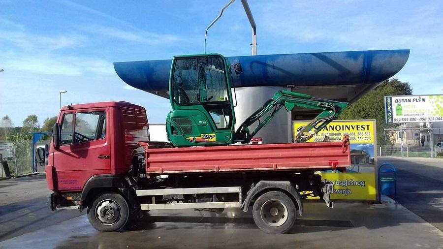 Prijevoz kamionom kiperom Eko Istra Pula