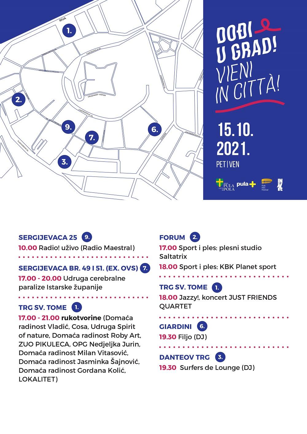 Program petak 15.10. - Dođi u grad