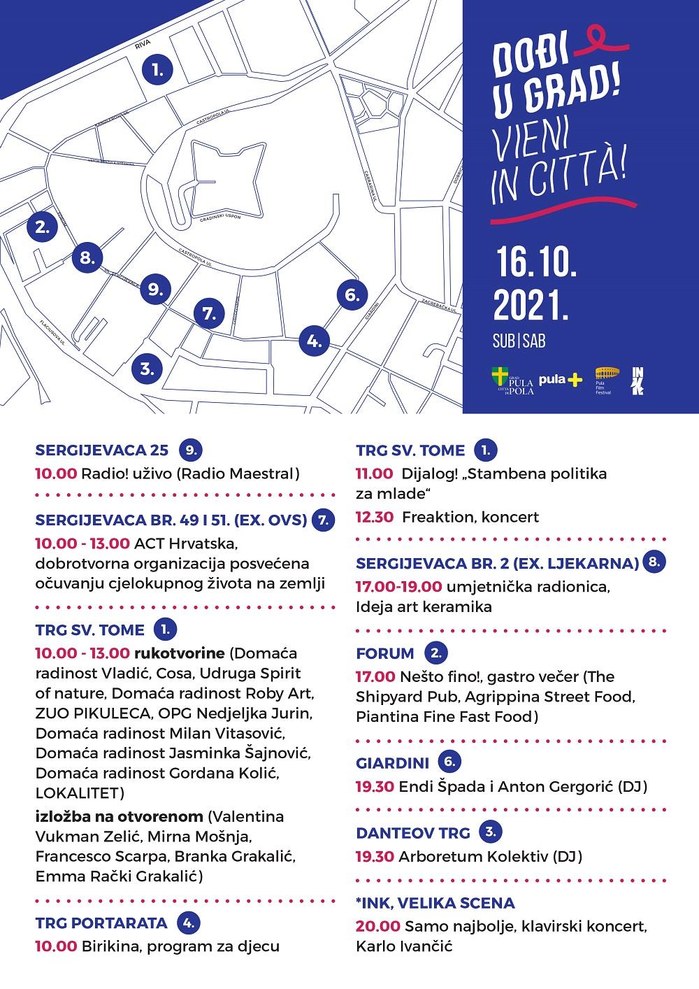 Program subota 16.10. - Dođi u grad