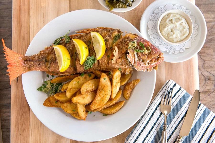 fish, grill, Pula restaurant Gardelin