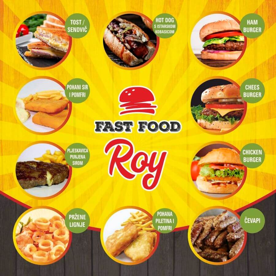 Fast food Roy jelovnik