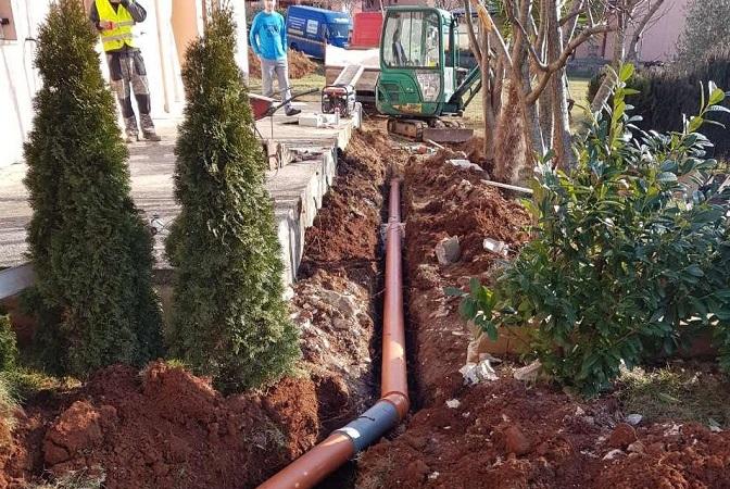 Iskopi za kanalizacije Pula Eko Istra