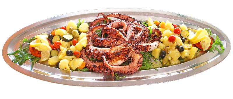Hobotnica u pećnici - Riblji specijaliteti