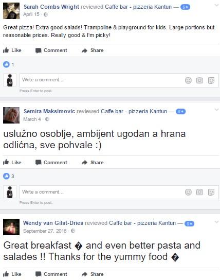 Pizzeria Kantun preporuke
