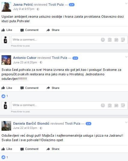 Pizzeria Tivoli preporuke recenzije