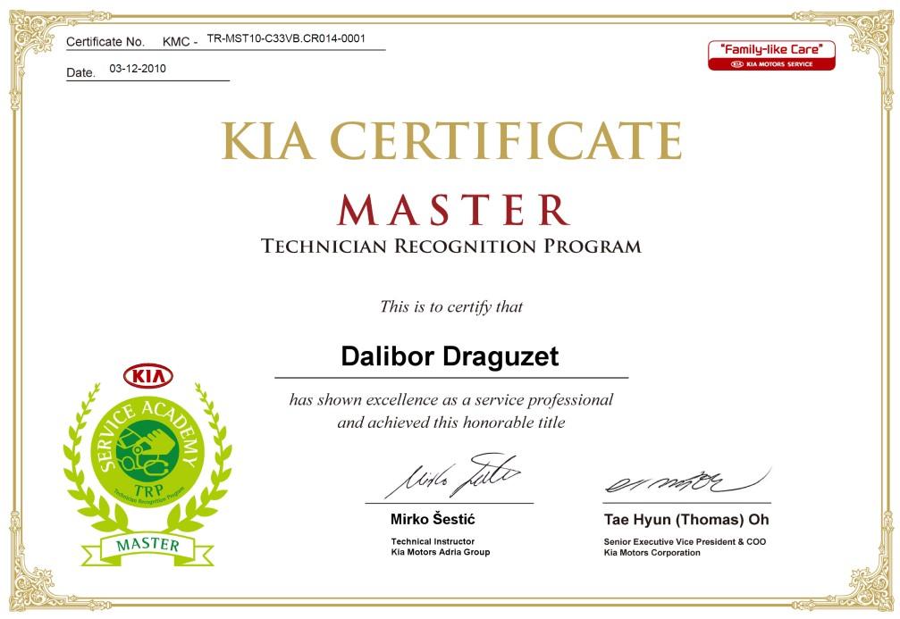 Durabilis certifikati master