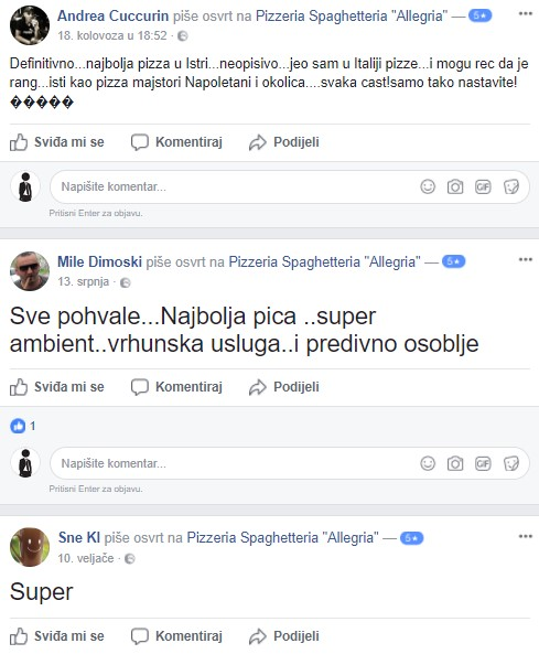 Pizzeria Allegria Kanfanar - Recenzije