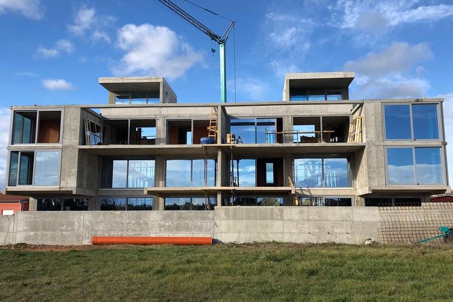 Birčić gradnja, zidarski radovi, roh bau gradnja