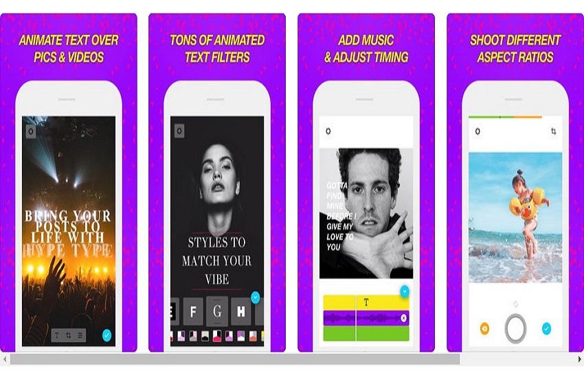 Hype Type aplikacija, Instagram
