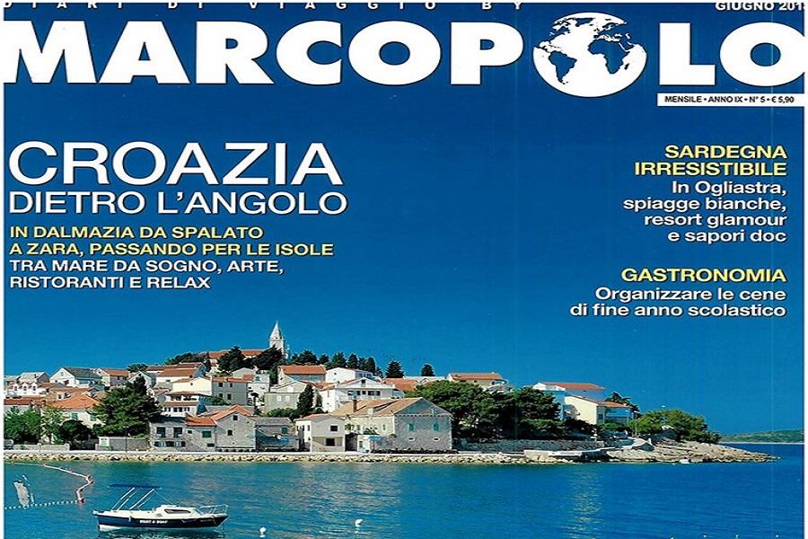 talijanski časopis, Marco Polo, Hrvatska, turistička destinacija