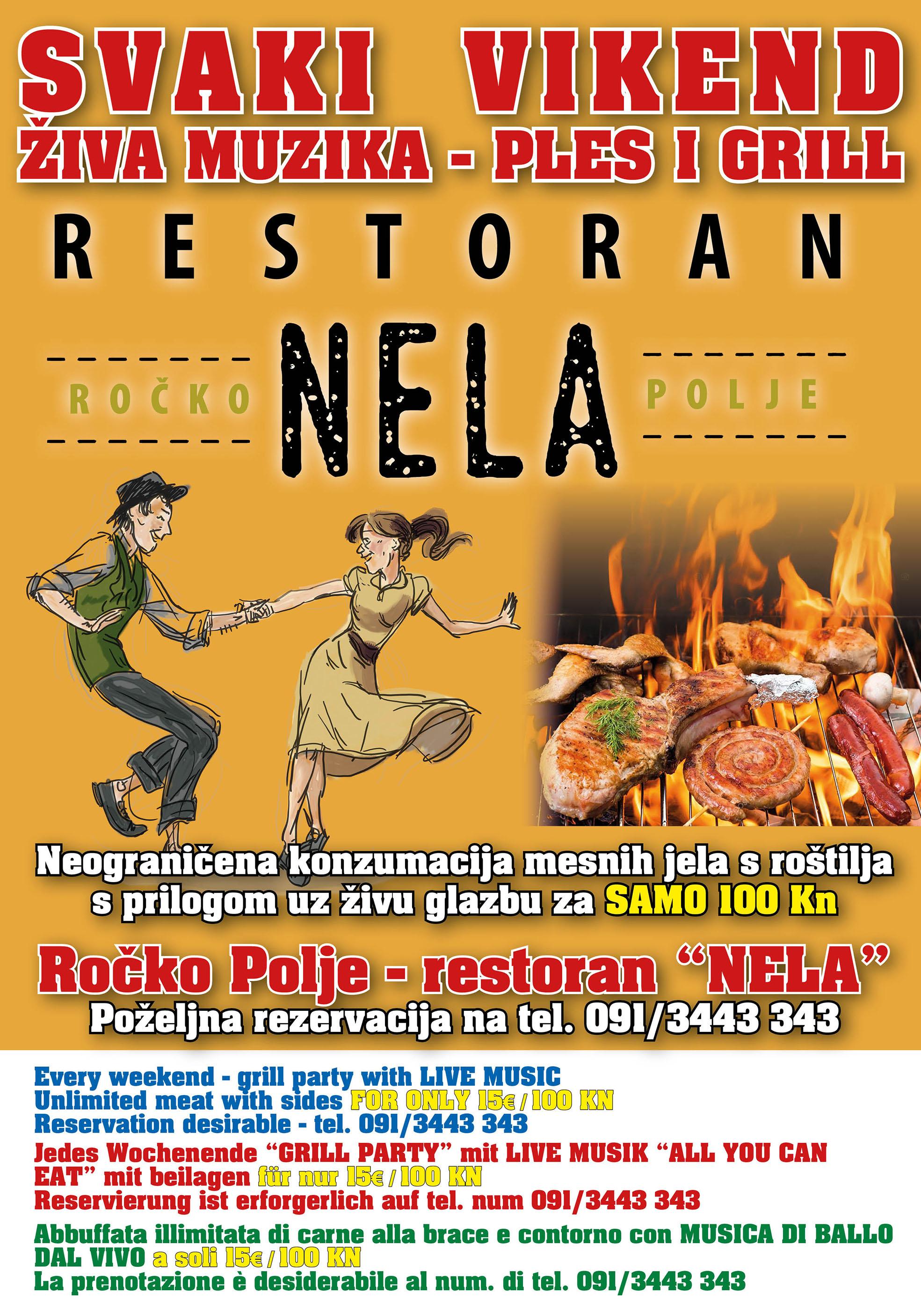 Restoran Nela - Živa glazba svaki vikend