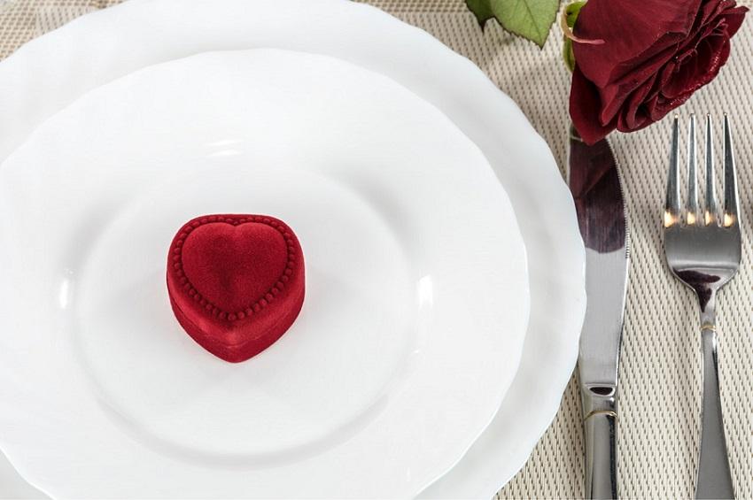 romantična večera za Valentinovo