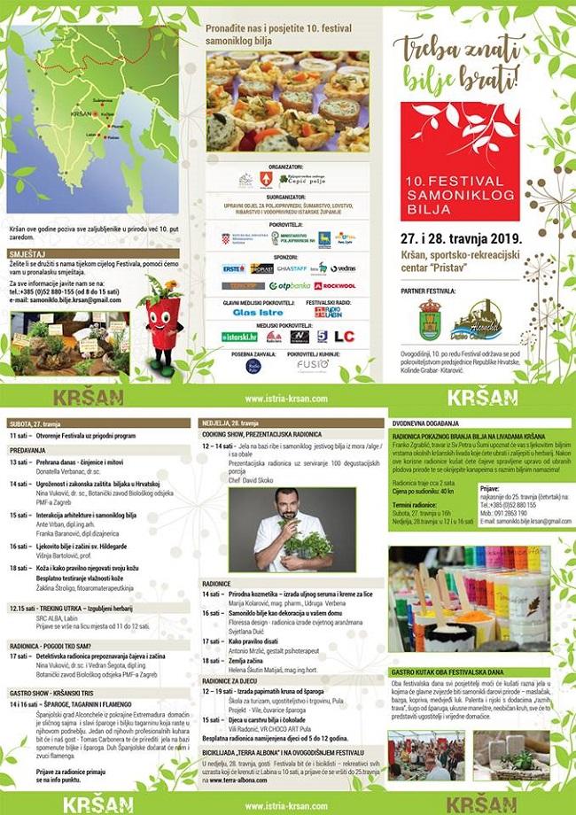 Festival samoniklog bilja, Kršan, program