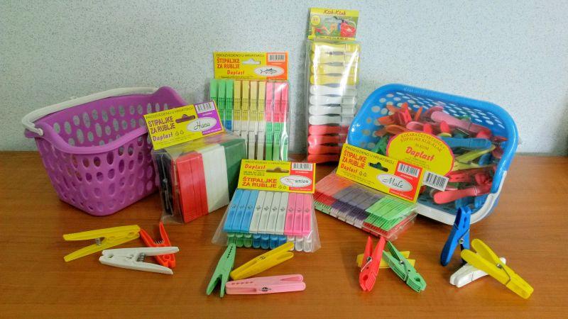 Plastične štipaljke za veš