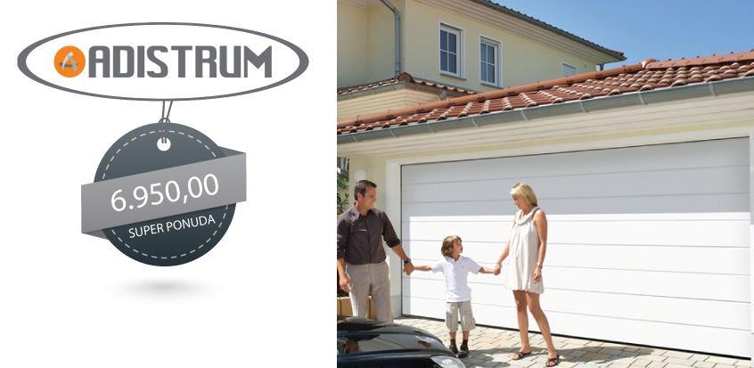 Bijela izolirana garažna vrata - ADISTRUM