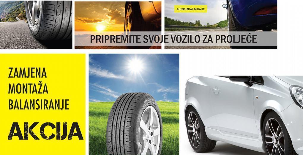 Autocentar Mihalic- proljetna akcija kontrola vozila besplatna uz zamjenu zimskih guma 35% posto