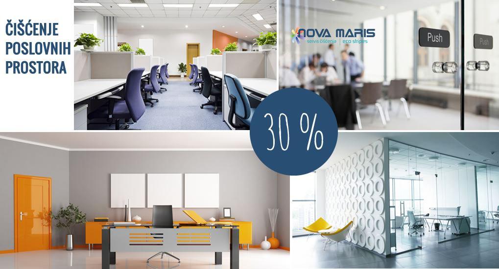 Čišćenje poslovnih prostora na području Pule i okolice - 30% - NOVA MARIS
