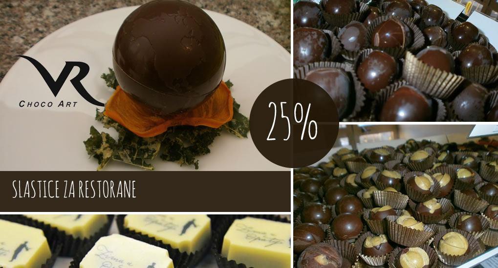 Slastice za restorane - 25% popusta - CHOCO ART PULA