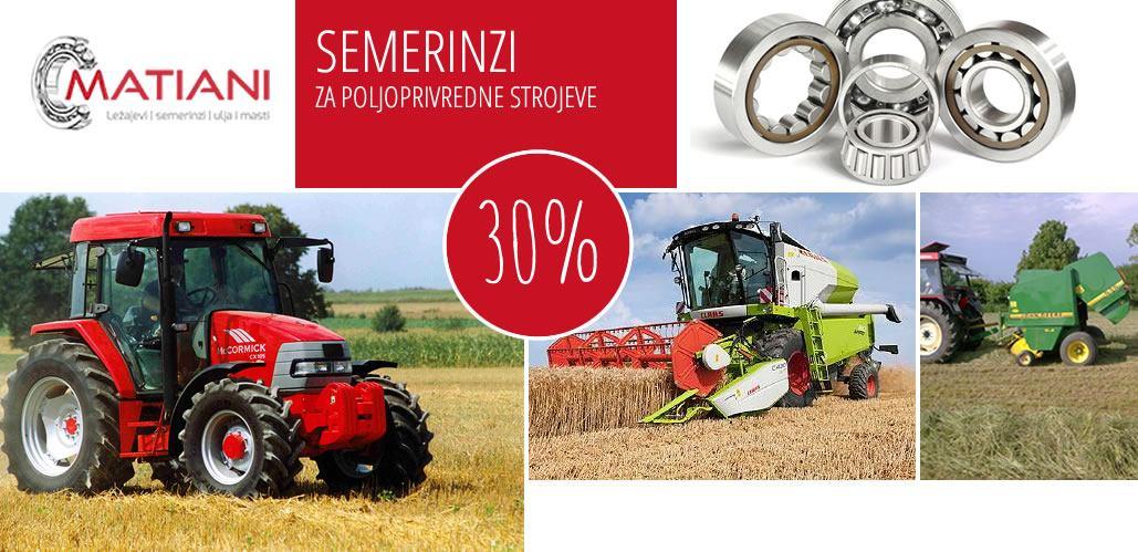 30% popusta na semeringe za poljoprivredne strojeve - MATIANI