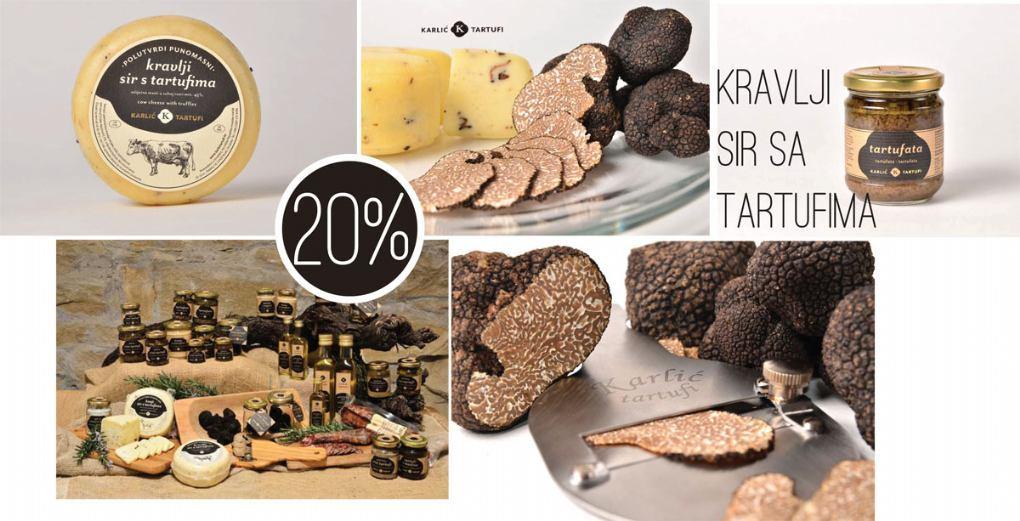 Kravlji sir sa tartufima - 20% popusta - KARLIĆ TARTUFI