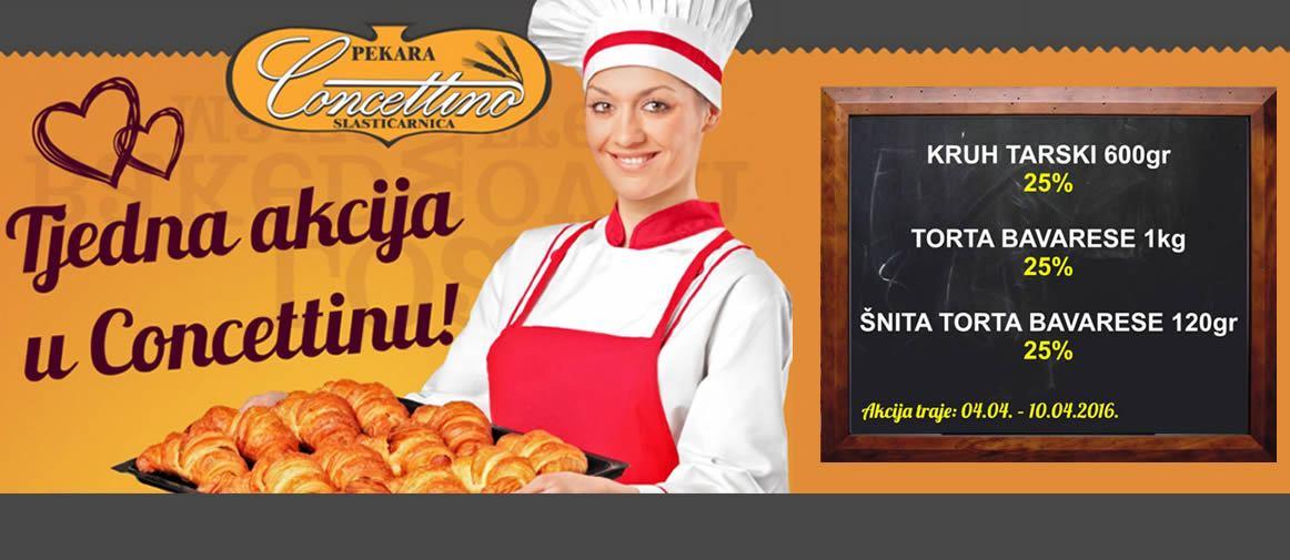 25% popusta na Tarski kruh i torte Bavese - CONCETTINO
