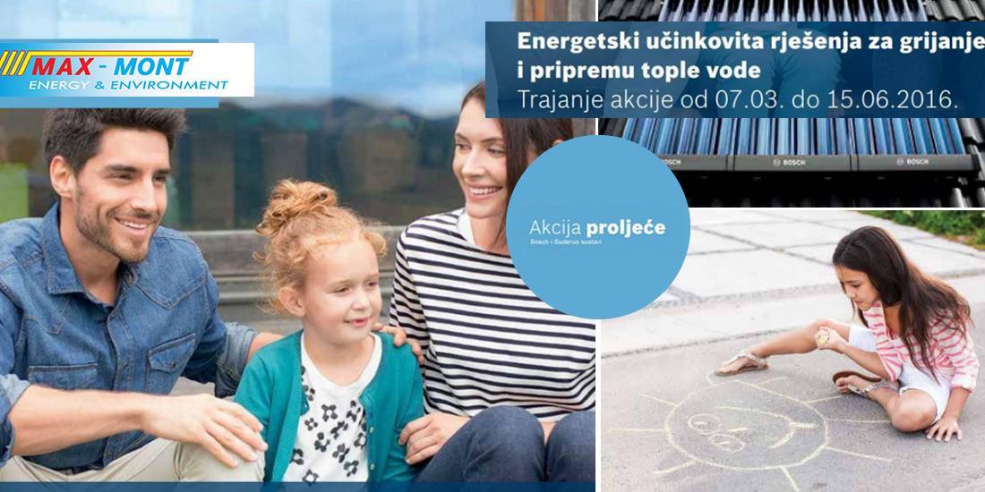 Akcija proljeće - energetski učinkovita rješenja za grijanje i pripremu tople vode 30 %