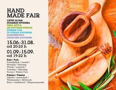 Hand made fair – Ljetni sajam istarskih suvenira