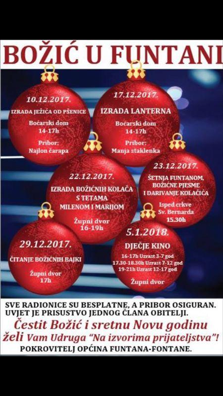 Program  Božić u Funtani  udruge za djecu i mlade