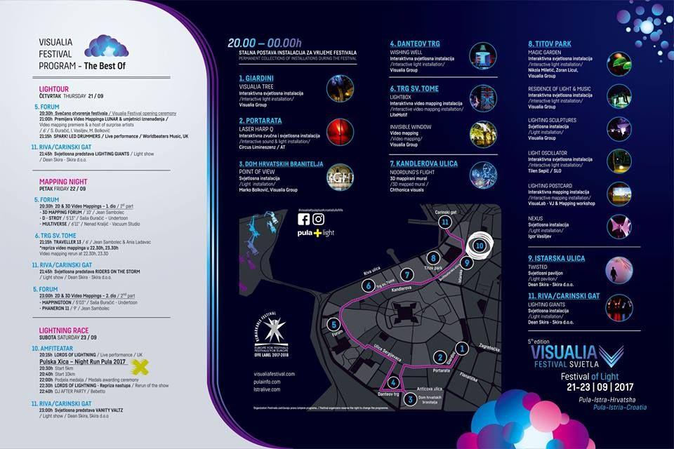 Pula: Festival svjetla Visualia