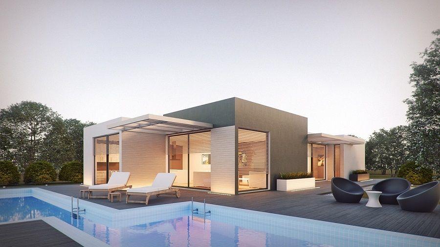 Trebam ponudu za izgradnju moderne kuće s bazenom