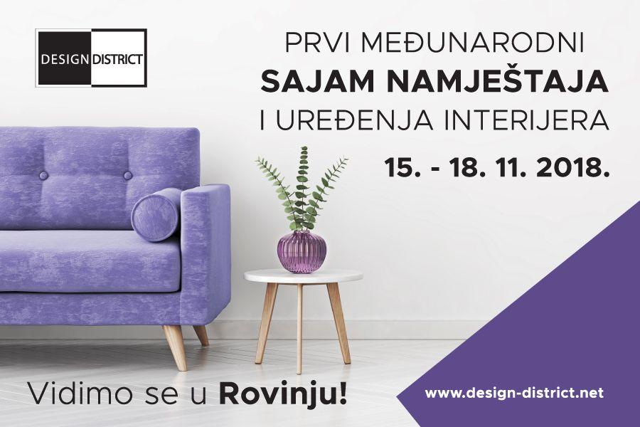 Ne propustite 1. međunarodni sajam namještaja Design District u Rovinju