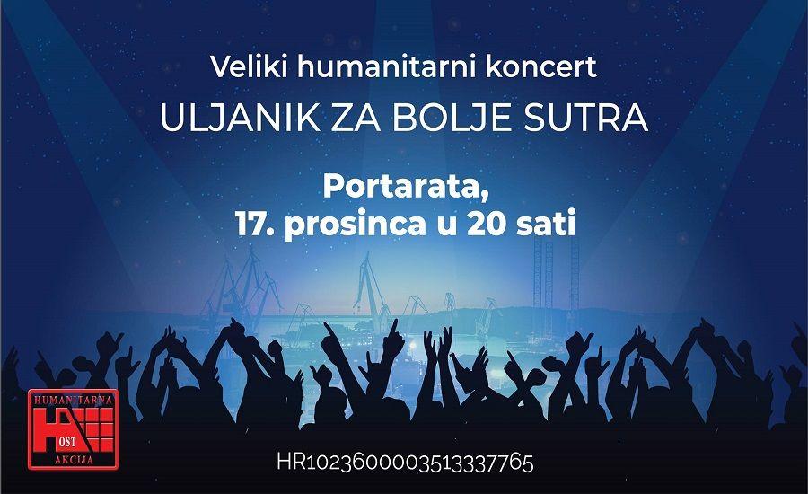 U ponedjeljak svi na veliki humanitarni koncert Uljanik za bolje sutra!