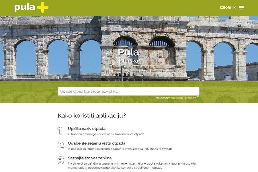 Novom web aplikacijom Grad Pula svojim sugrađanima olakšava prijelaz na sustav selektivnog prikupljanja otpada
