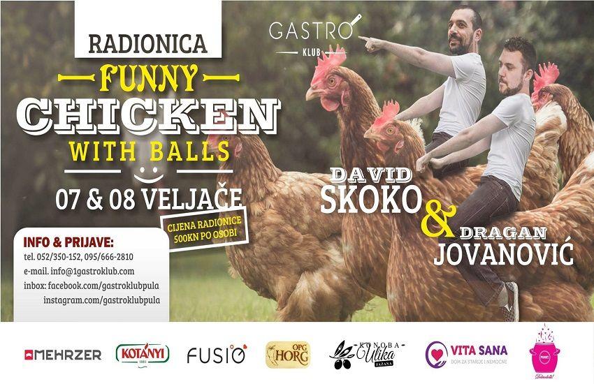 Prijavite se na radionicu Gastro Kluba Pula: Funny chicken with balls