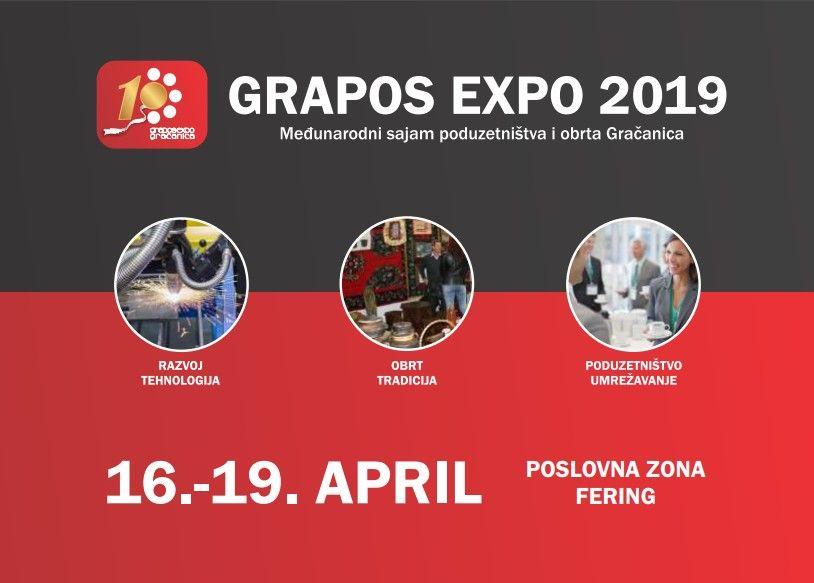 Prijavite se na 10. Međunarodni sajam poduzetništva i obrta GRAPOS EXPO u Gračanici 2019.