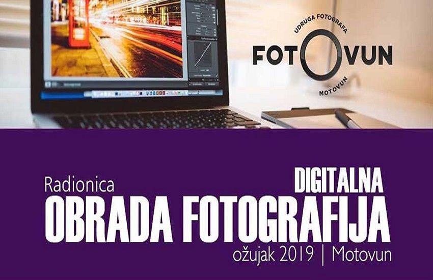 Radionica digitalne obrade fotografija u Motovunu