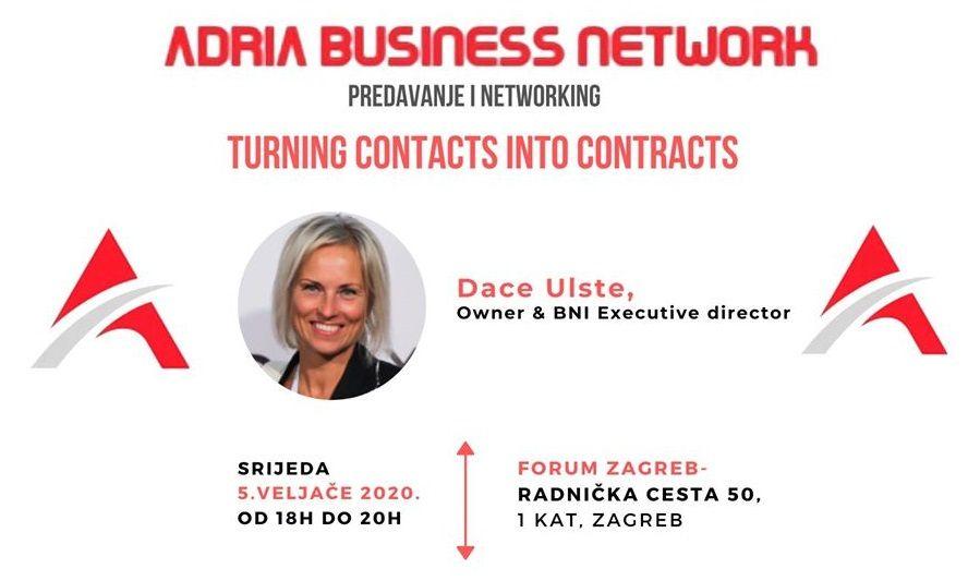 Adria Business Network: Pretvorite kontakte u ugovore