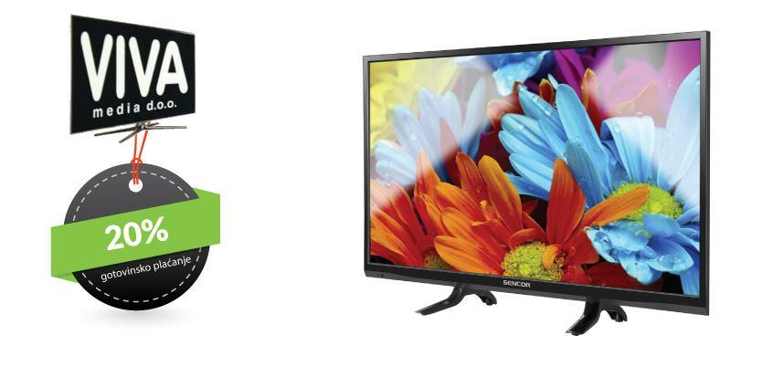 Sencor televizor - 20% popusta - VIVA MEDIA