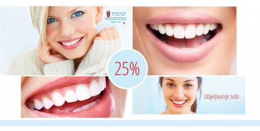 SUBOTIĆ - 25% popusta na uslugu kompletnog izbjeljivanja zuba
