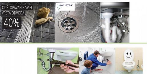 Eko Istra - 40% popusta na odštopavanje svih vrsta odvoda