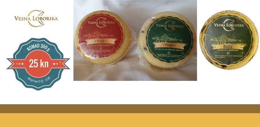 Kravlji sir s maslinama, zelenim paprom i paprikom - VESNA LOBORIKA