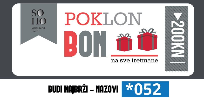 Poklon bon za tretmane u iznosu 200, 00 kn - SOHO