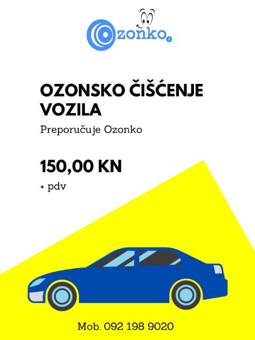 Ozonsko čišćenje automobila